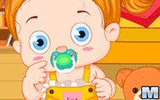 An Adorable Baby With A Cute Teddy Bear