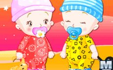 Baby Twins Dress Up