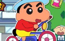 Shin Chan Rides Bike
