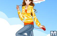 Flying Kite Girl