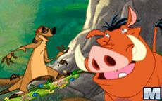 Timon and Pumbaa Grub Ridin