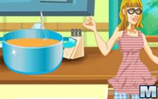 Violetta Cooking For Leon