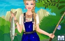 Barbie Fishing Princess