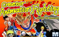 Animation Fighting: Luffy VS Naruto