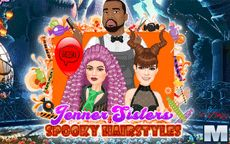 Jenner Sisters Spooky Hair